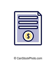 Isolated money document icon fill vector design