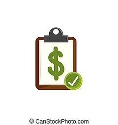 Isolated money document icon flat design