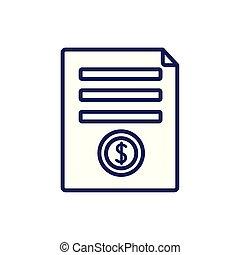 Isolated money document icon line vector design