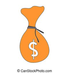 Isolated moneybag icon. Business concept. Vector...