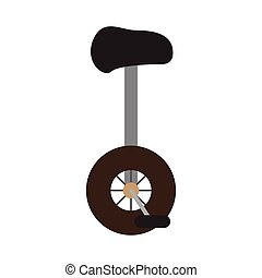 Isolated monocycle icon image. Vector illustration design