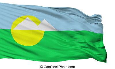 Isolated Montes Claros city flag, Brasil - Montes Claros...