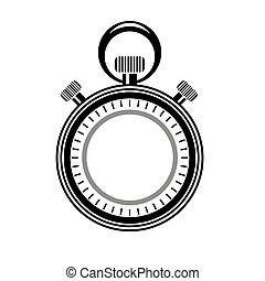 isolated., montre, minuteur, seconde, logo., icône