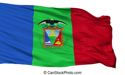 Isolated Moquegua city flag, Peru - Moquegua flag, city of...