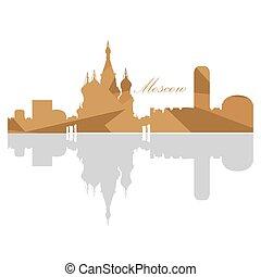 Isolated Moscow skyline
