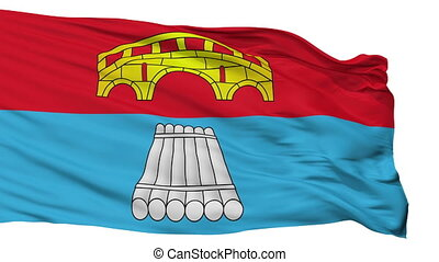 Isolated Mosty city flag, Belarus - Mosty flag, city of...