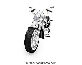 isolated motorcycle front view 02 - isolated motorcycle on a...
