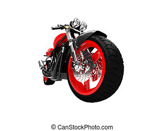 isolated motorcycle front view 03 - isolated motorcycle on a...
