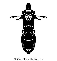 Isolated motorcycle silhouette