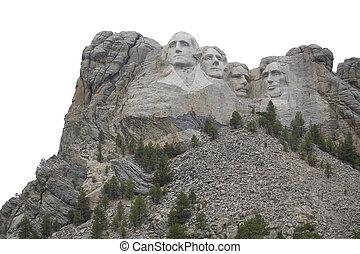 Isolated Mount Rushmore - Mount Rushmore in South Dakota...