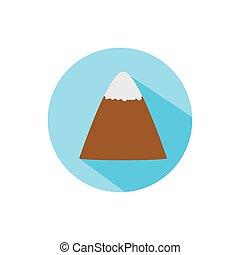 Isolated mountain icon block vector design
