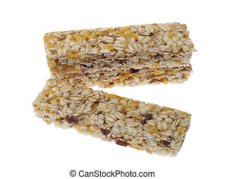 muesli bar isolated on a white background