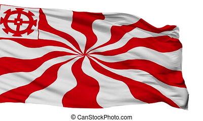 Isolated Mulhouse city flag, France - Mulhouse flag, city of...