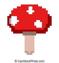Isolated mushroom pixelated icon