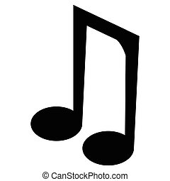 Isolated musical note