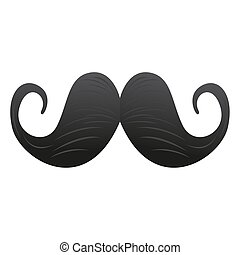 Isolated mustache icon