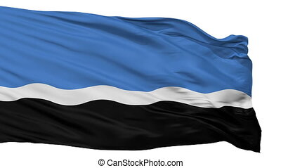 Isolated Mustvee Jogeva County city flag, Estonia - Mustvee...
