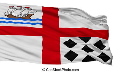 Isolated Nanaimo city flag, Canada - Nanaimo flag, city of...