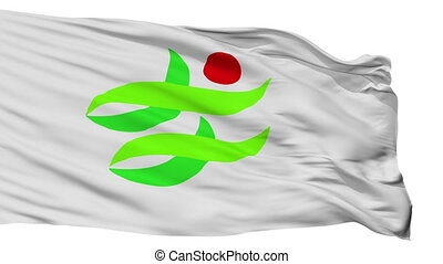 Isolated Nantan city flag, prefecture Kyoto, Japan - Nantan ...