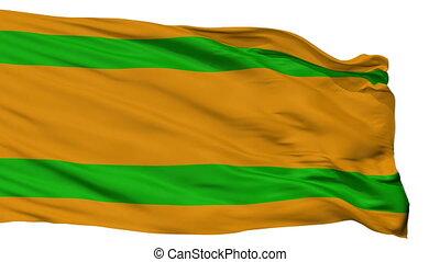 Isolated Naranjito city flag, Puerto Rico - Naranjito flag,...