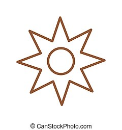 Isolated natural flower line style icon vector design