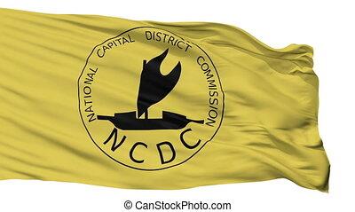 Isolated NCD city flag, Papua New Guinea