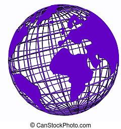 isolated net globe purple