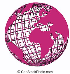 isolated net globe