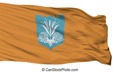 Isolated Netanya city flag, Israel - Netanya flag, city of...