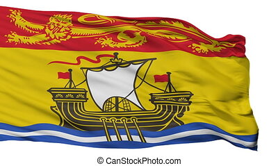 Isolated New Brunswick city flag, Canada - New Brunswick...