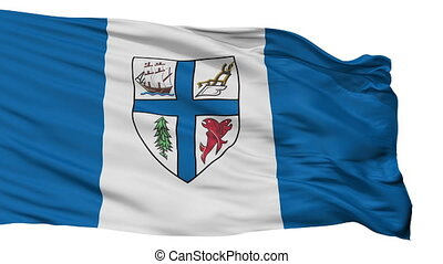 Isolated New Westminster city flag, Canada - New Westminster...