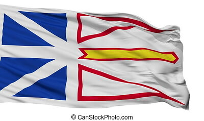 Isolated Newfoundland and Labrador city flag, Canada -...
