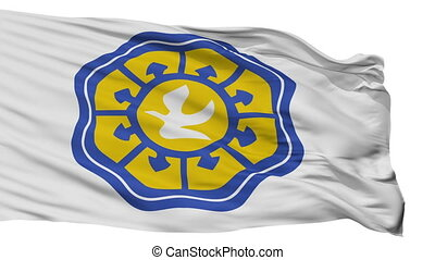 Isolated Nicosia city flag, Cyprus - Nicosia flag, city of...