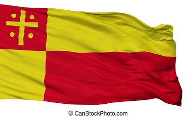 Isolated Nieheim city flag, Germany - Nieheim flag, city of...