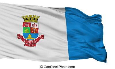 Isolated Niteroi city flag, Brasil - Niteroi flag, city of...