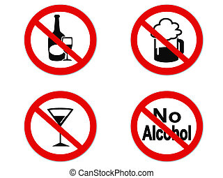 No Alcohol sign icon