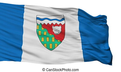 Isolated Northwest Territories city flag, Canada - Northwest...