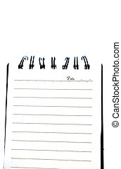 Isolated Notepad - Blank notepad page isolated