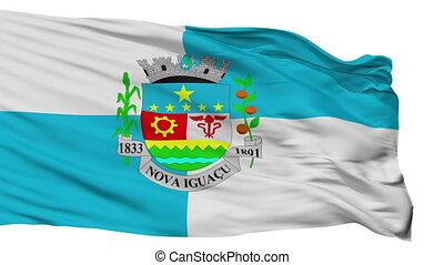 Isolated Nova Iguacu city flag, Brasil - Nova Iguacu flag,...
