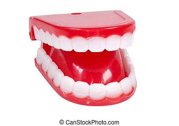 Isolated Novelty Teeth
