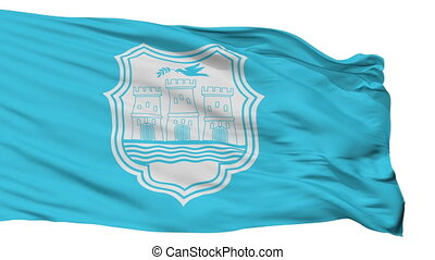 Isolated Novi Sad city flag, Serbia - Novi Sad flag, city of...
