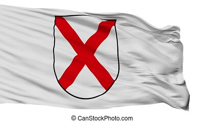 Isolated Novigrada city flag, Croatia - Novigrada flag, city...