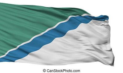 Isolated Novosibirsk city flag, Russia - Novosibirsk flag,...