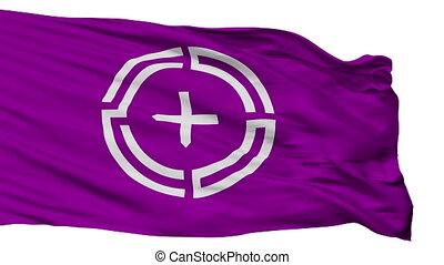 Isolated Numata city flag, prefecture Gunma, Japan - Numata...