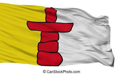 Isolated Nunavut city flag, Canada - Nunavut flag, city of...