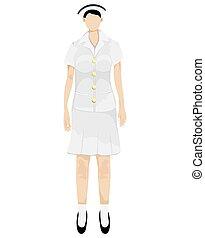 isolated  nurse cartoon shape on white background vector design