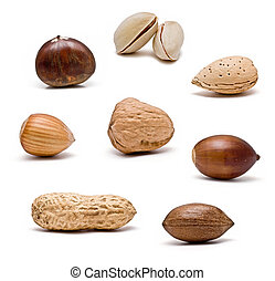 Isolated nuts collection.