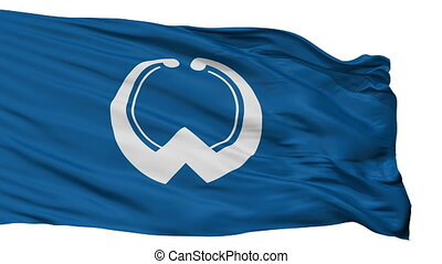 Isolated Oamashirasato city flag, prefecture Chiba, Japan -...