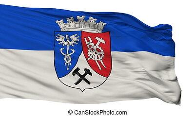 Isolated Oberhausen city flag, Germany - Oberhausen flag,...