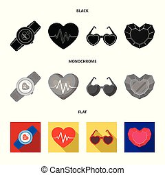 Isolated object of abstract and shape symbol. Collection of abstract and love vector icon for stock.